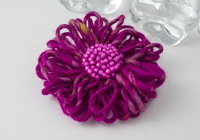 Fuchsia Flower Brooch