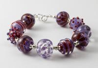 Purple and Red Lampwork Bracelet