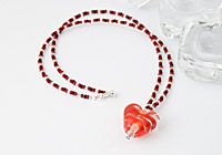 Red Heart Lampwork Necklace alternative view 1