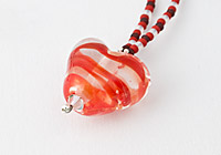 Red Heart Lampwork Necklace