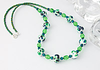 Green Fritty Necklace