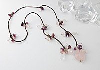 Rose Quartz Lariat alternative view 1