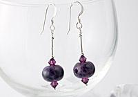 Purple Lampwork Earrings