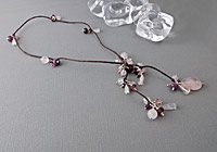 Rose Quartz Lariat