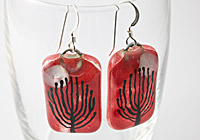 Tree Glass Earrings