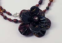 """Mocha Rose"" - Lampwork Necklace"