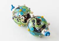 Glittery Lampwork Flower Beads alternative view 2