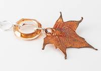 Copper Plated Leaf Pendant alternative view 1