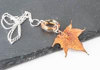 Copper Plated Leaf Pendant alternative view 2