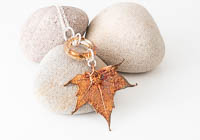 Copper Plated Leaf Pendant