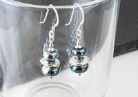 Metallic Lampwork Earrings alternative view 2