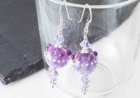 Purple Dahlia Lampwork Earrings alternative view 1