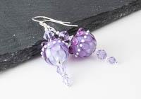 Purple Dahlia Lampwork Earrings alternative view 2