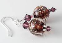 Dichroic Lampwork Earrings alternative view 1