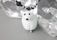 Polar Bear Lampwork Necklace