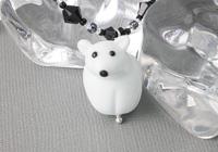 Polar Bear Lampwork Necklace