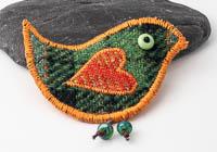 Harris Tweed Bird Brooch