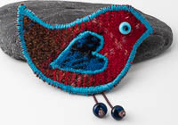 Harris Tweed Bird Brooch