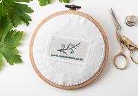 Lavender - Landscape Embroidery Hoop Art alternative view 2