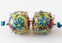 Lampwork Murrini Flower Beads