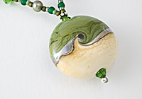 "Lampwork Necklace ""Moss"""