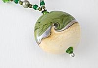 "Lampwork Necklace ""Moss"""