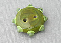 Olive Green Lampwork Button