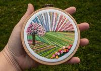 Cherry Tree - Landscape Embroidery Hoop Art alternative view 1