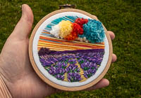 Lavender - Landscape Embroidery Hoop Art alternative view 1