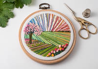Cherry Tree - Landscape Embroidery Hoop Art