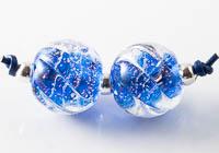 Dichroic Swirly Lampwork Beads