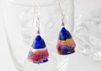 """""""Cobalt Blues"""" Lampwork Earrings"""