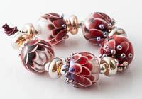 Ruby Lampwork Dahlia Bead Set alternative view 1
