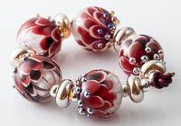 Ruby Lampwork Dahlia Bead Set alternative view 2