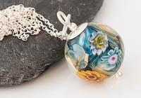 Flower Lampwork Pendant Necklace alternative view 2
