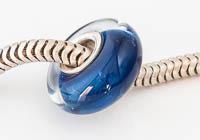 Silver Cored Blue Lampwork Charm Bead alternative view 1