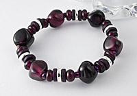 Amethyst Glass Bracelet