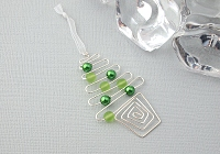 Green Christmas Tree Wire Decoration