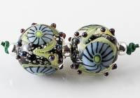 Lampwork Murrini Flower Beads