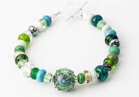Green Lampwork Bracelet