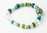 Green Lampwork Bracelet alternative view 1
