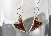 Hand Painted Heart Earrings alternative view 2