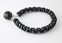 Black Heart Ceramic Bracelet
