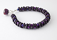 Purple Ceramic Bracelet