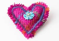 Harris Tweed Heart Brooch alternative view 1
