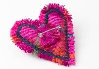 Harris Tweed Heart Brooch alternative view 2