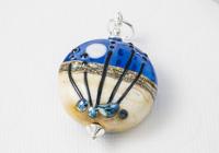 Wintry Night Lampwork Pendant