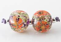 Lampwork Murrini Poppy Flower Beads