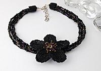 """""""Nightshade"""" Beaded Necklace"""