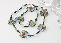 """Waterway"" Lampwork Necklace"